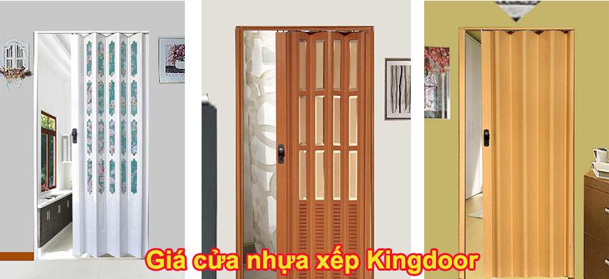 Giá cửa nhựa xếp kingdoor