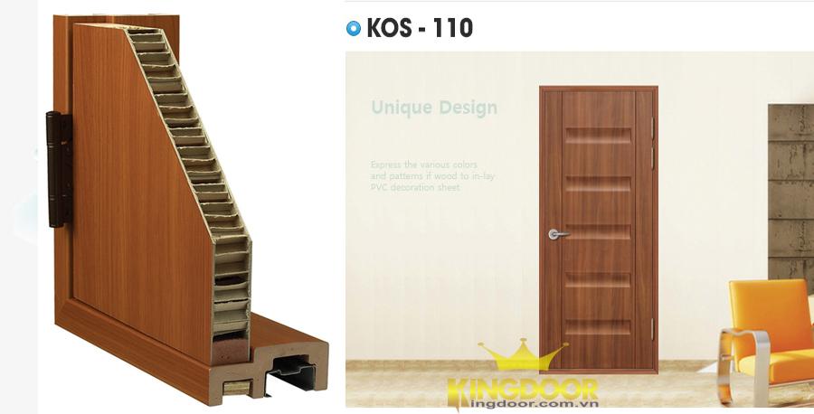 Cửa nhựa abs Hàn Quốc mẫu kos 110 - MT104