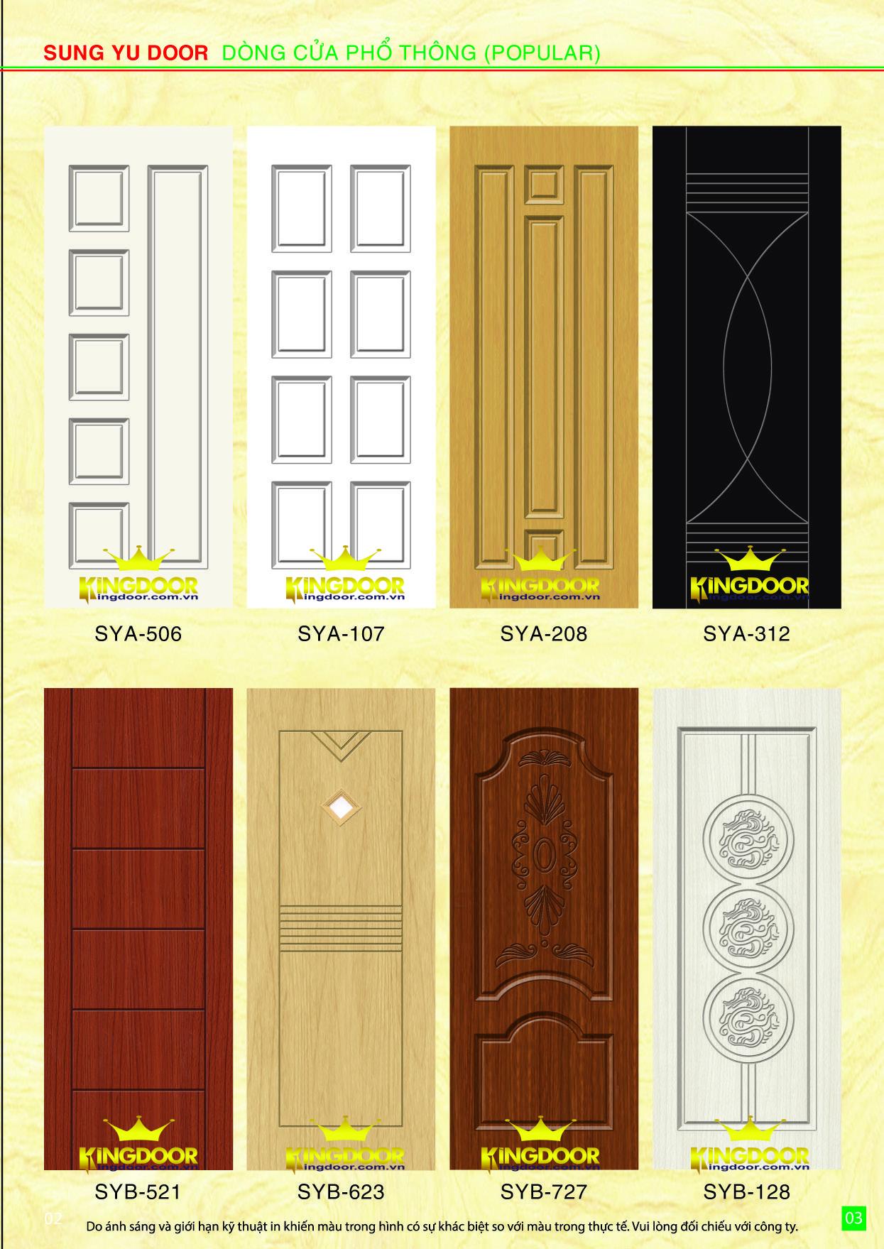 Mẫu cửa nhựa gỗ composite mới nhất 2019