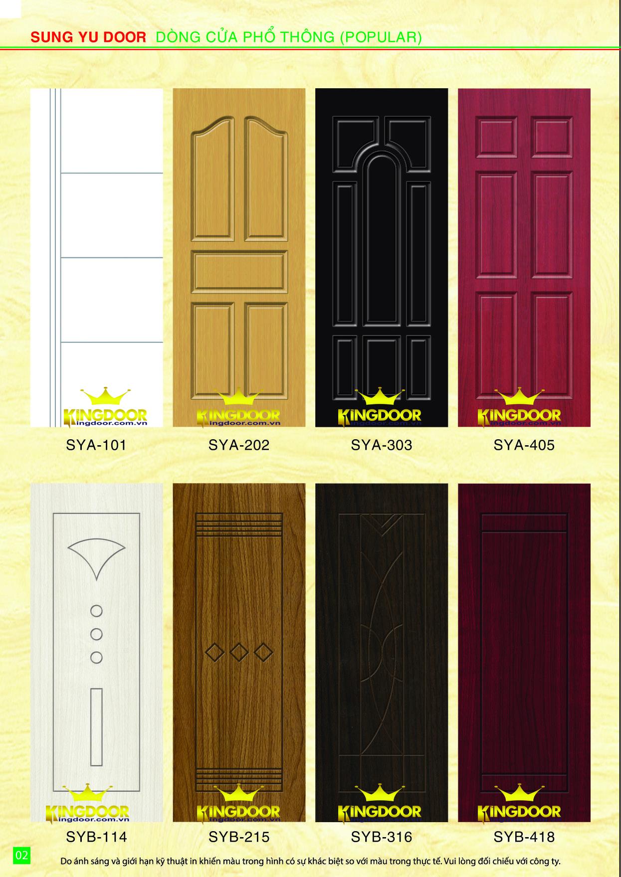 Mẫu cửa nhựa composite đẹp tại tp hcm, cửa nhựa gỗ sungyu