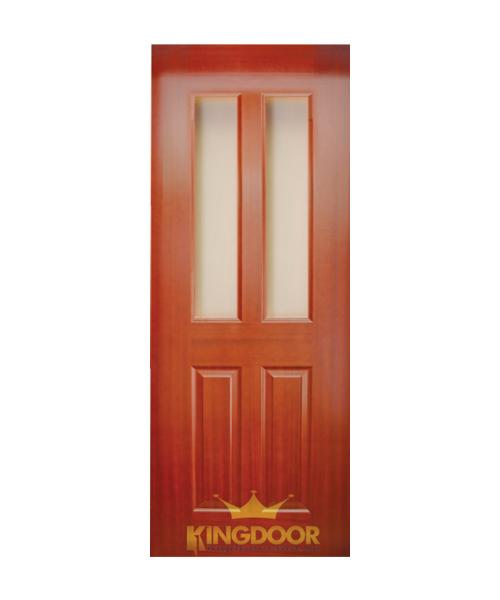 Cửa gỗ công nghiệp HDF veneer KD.4G2-Căm Xe
