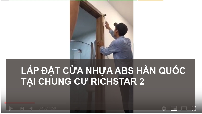 Hướng dẫn lắp cửa nhựa ABS Hàn Quốc