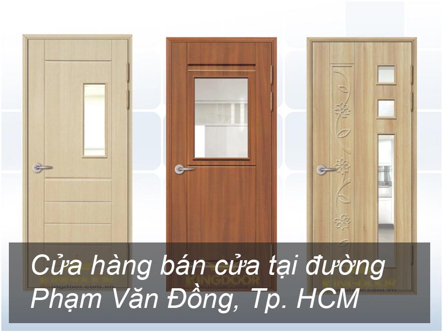 Cửa hàng bán cửa tại đường Phạm Văn Đồng, Tp. HCM
