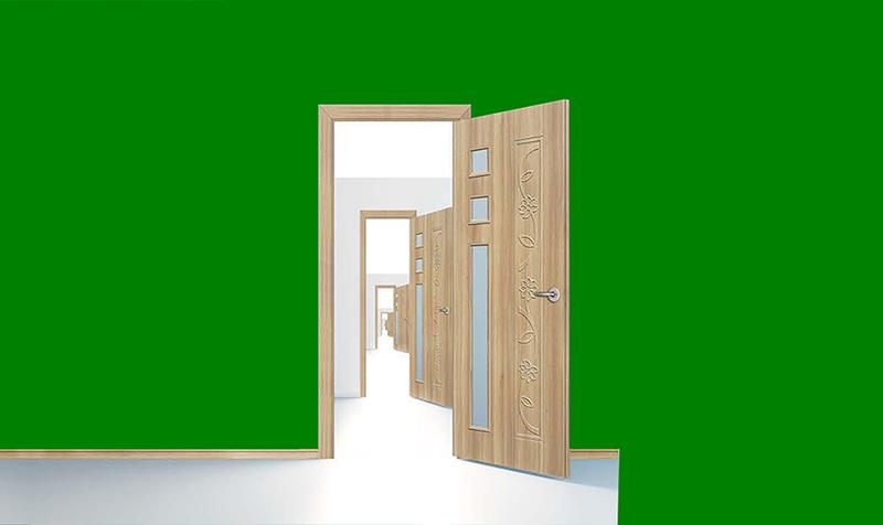 Mẫu cửa nhựa giả gỗ được ưa chuộng trên thị trường
