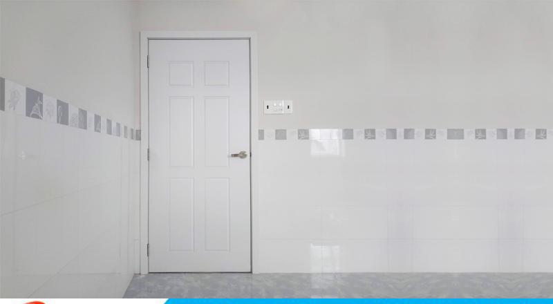 Cửa nhựa Hàn Quốc tone màu trắng 120