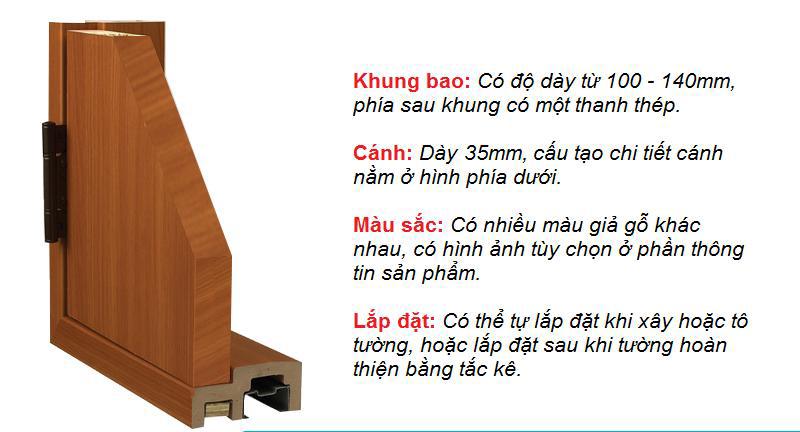 Góc mẫu cửa nhựa ABS Hàn Quốc