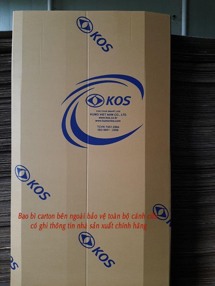 Bao bì carton bên ngoài có ghi rõ thông tin nhà sản xuất chính hãng.