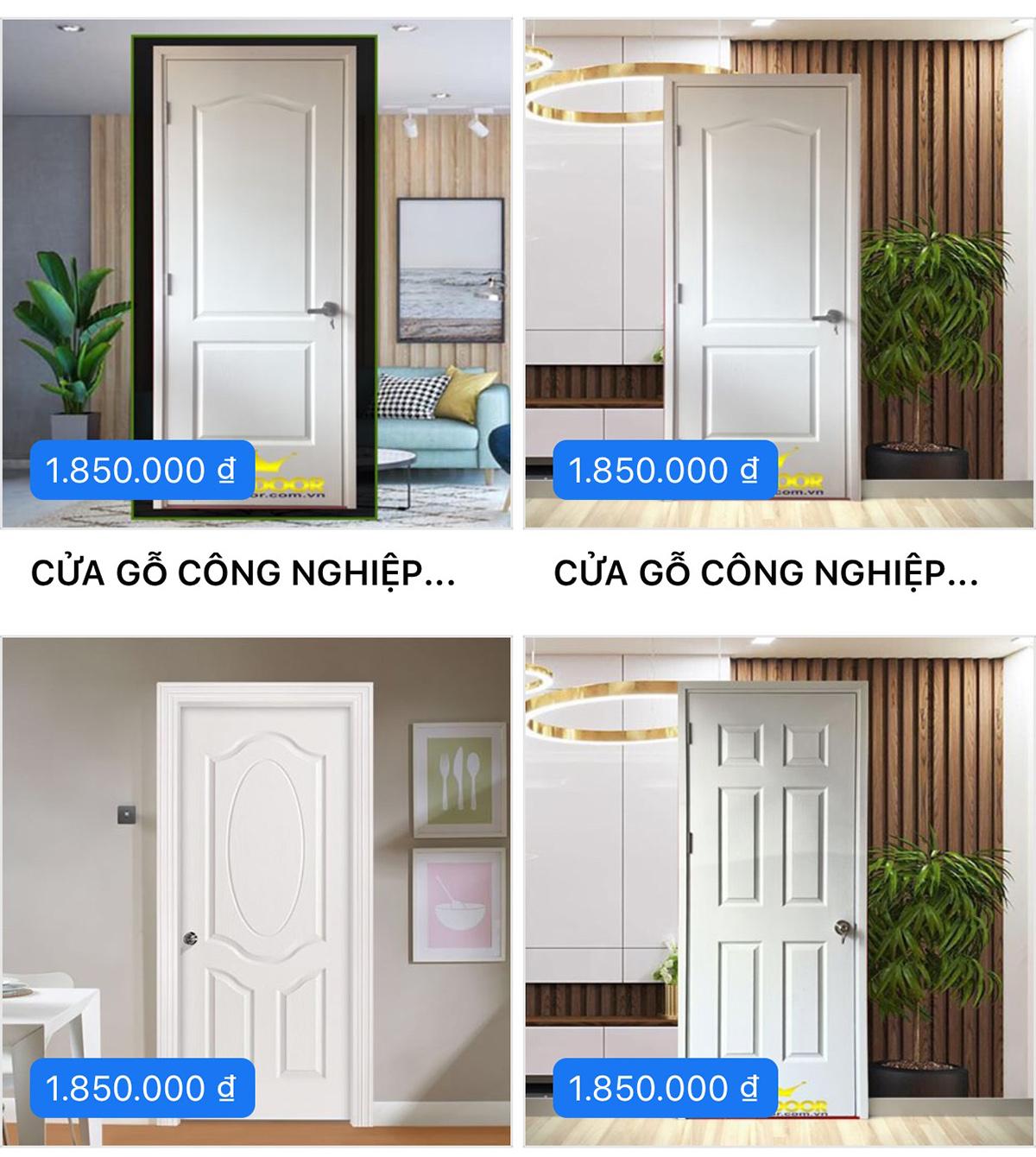 Mẫu cửa gỗ HDF sơn