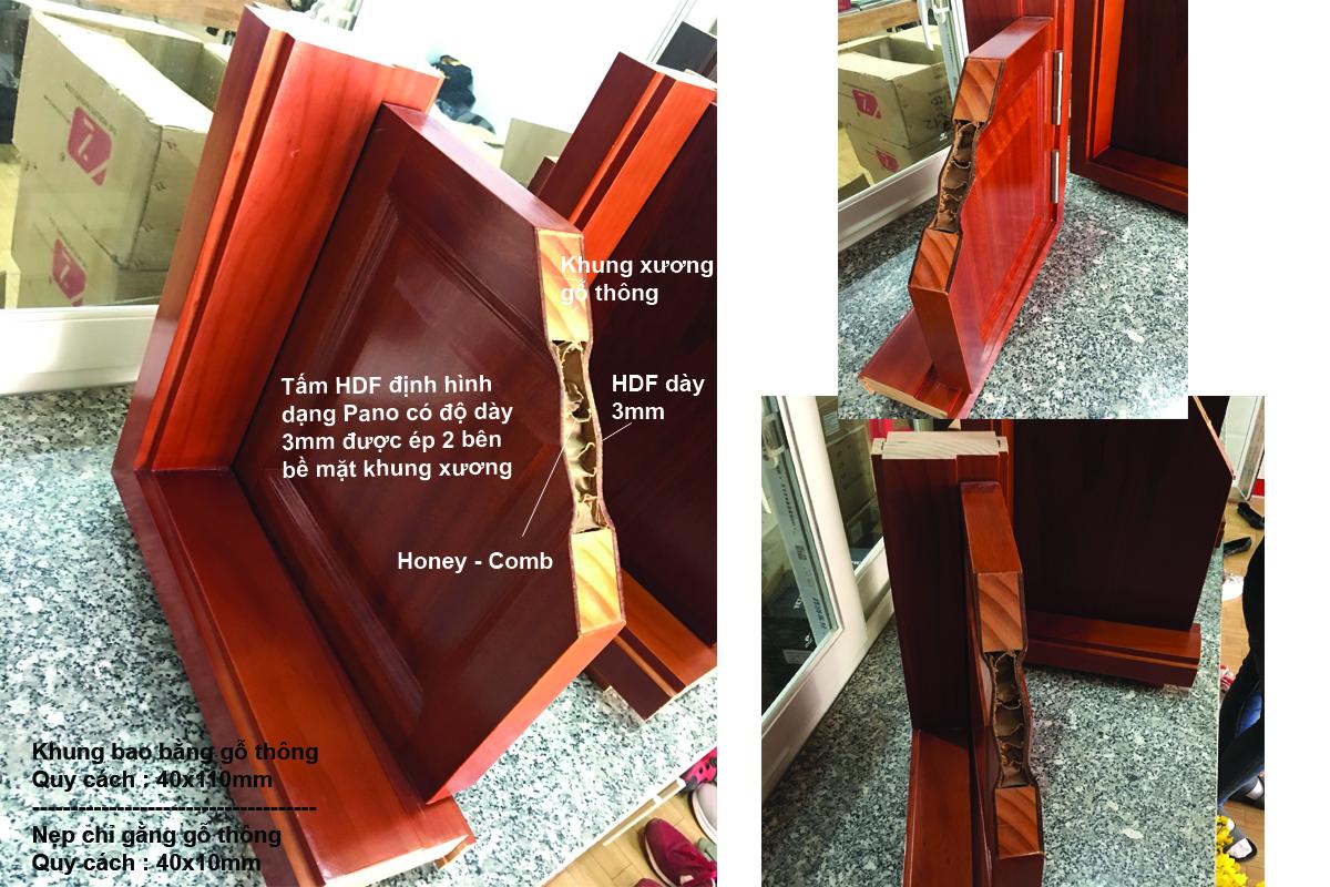 Cấu tạo cửa gỗ công nghiệp hdf veneer