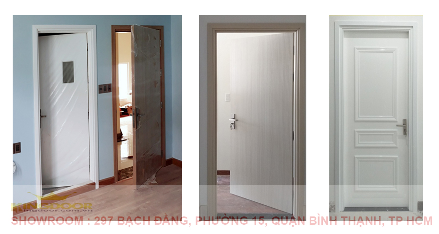 Mẫu cửa Composite tone trắng