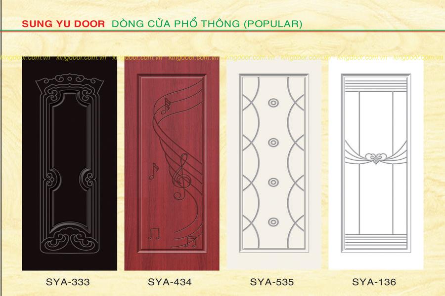 Cửa nhựa gỗ Composite dòng sơn SYA mẫu nhiều hoa văn
