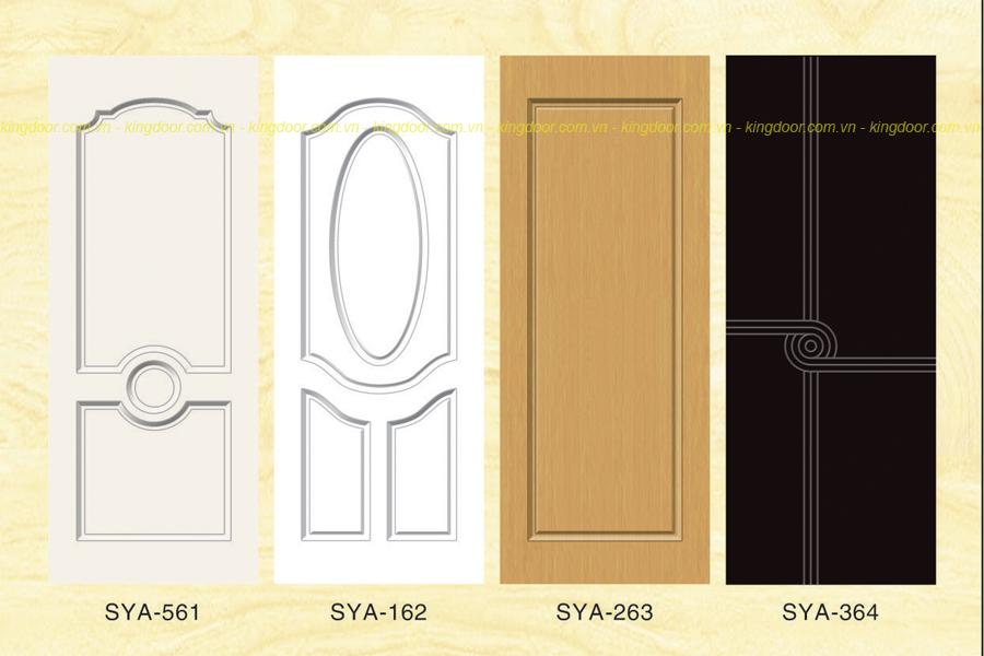 Cửa nhựa gỗ Composite dòng sơn SYA mẫu đơn giản cổ điển