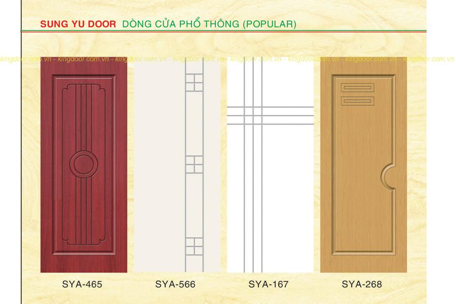 Cửa nhựa gỗ Composite dòng sơn SYA mẫu đơn giản hiện đại