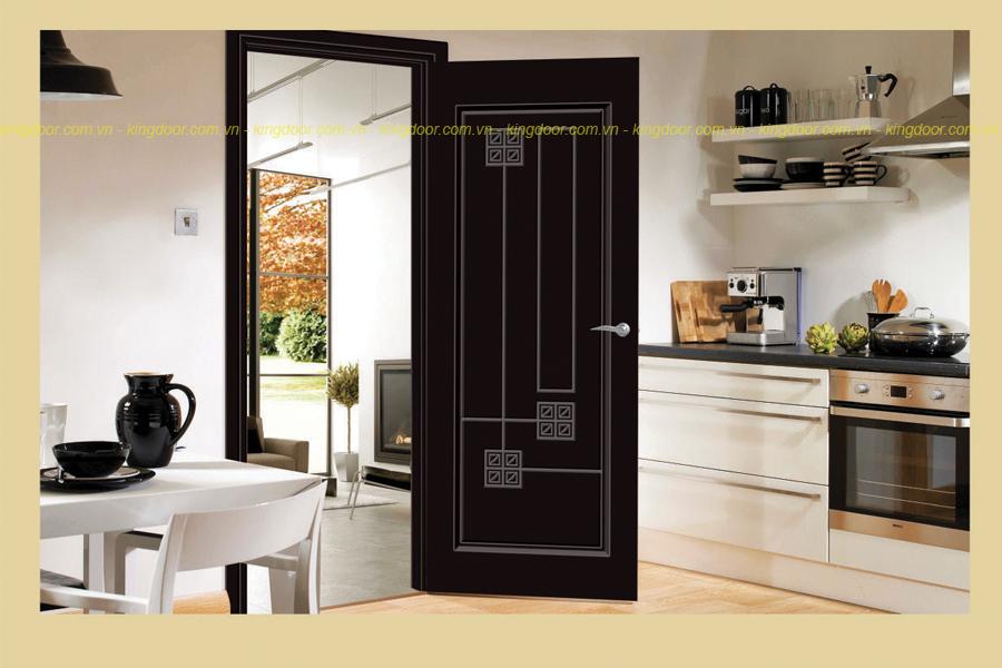 Cửa nhựa gỗ Composite được thiết kế tinh xảo theo quy trình chạy máy CNC