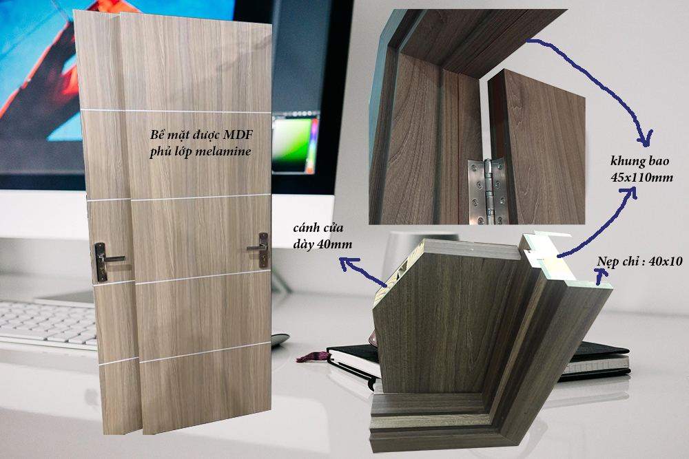 Cấu tạo cửa gỗ công nghiệp mdf melamine