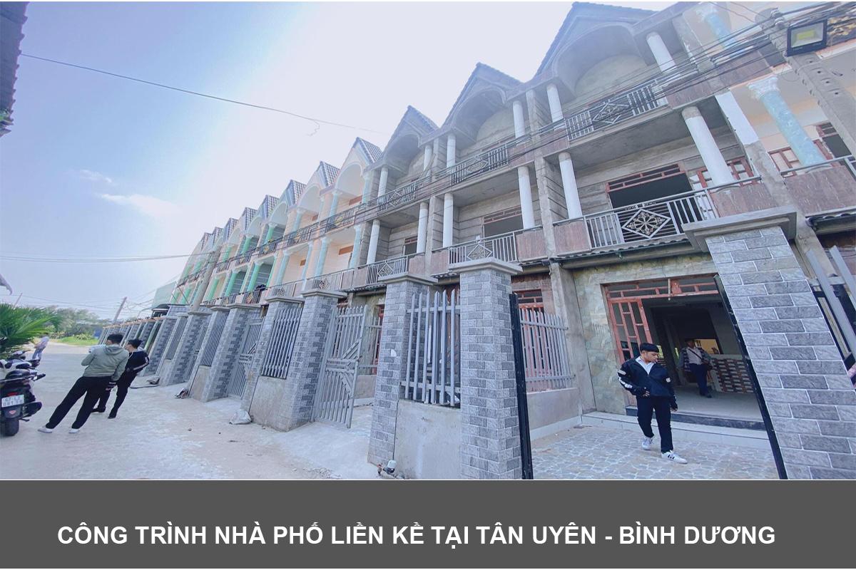Công trình nhà phố liền kề Tân Uyên - Bình Dương