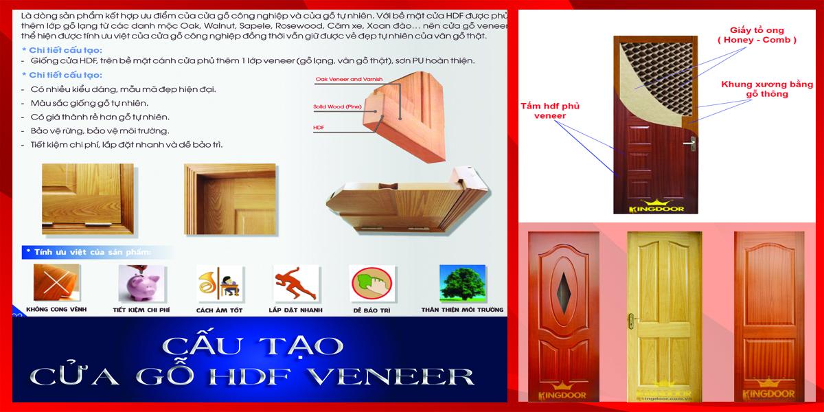Cấu tạo cửa gỗ công nghiệp