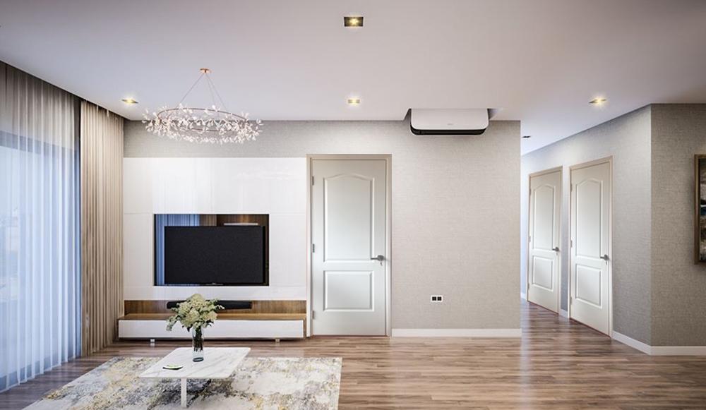 Cửa gỗ công nghiệp hdf sơn mẫu 2A-C1 thích hợp với mọi không gian trong ngôi nhà.