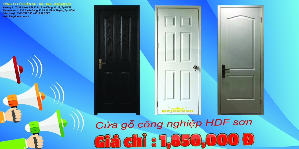 Giá cửa gỗ công nghiệp hdf chỉ 1,850,000