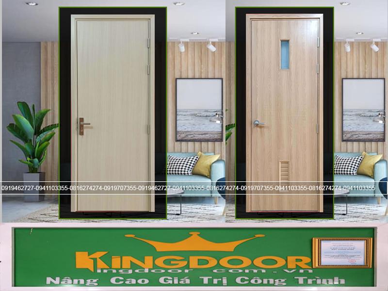 Mẫu cửa nhựa giả gỗ Composite mẫu phẳng và có ô kính