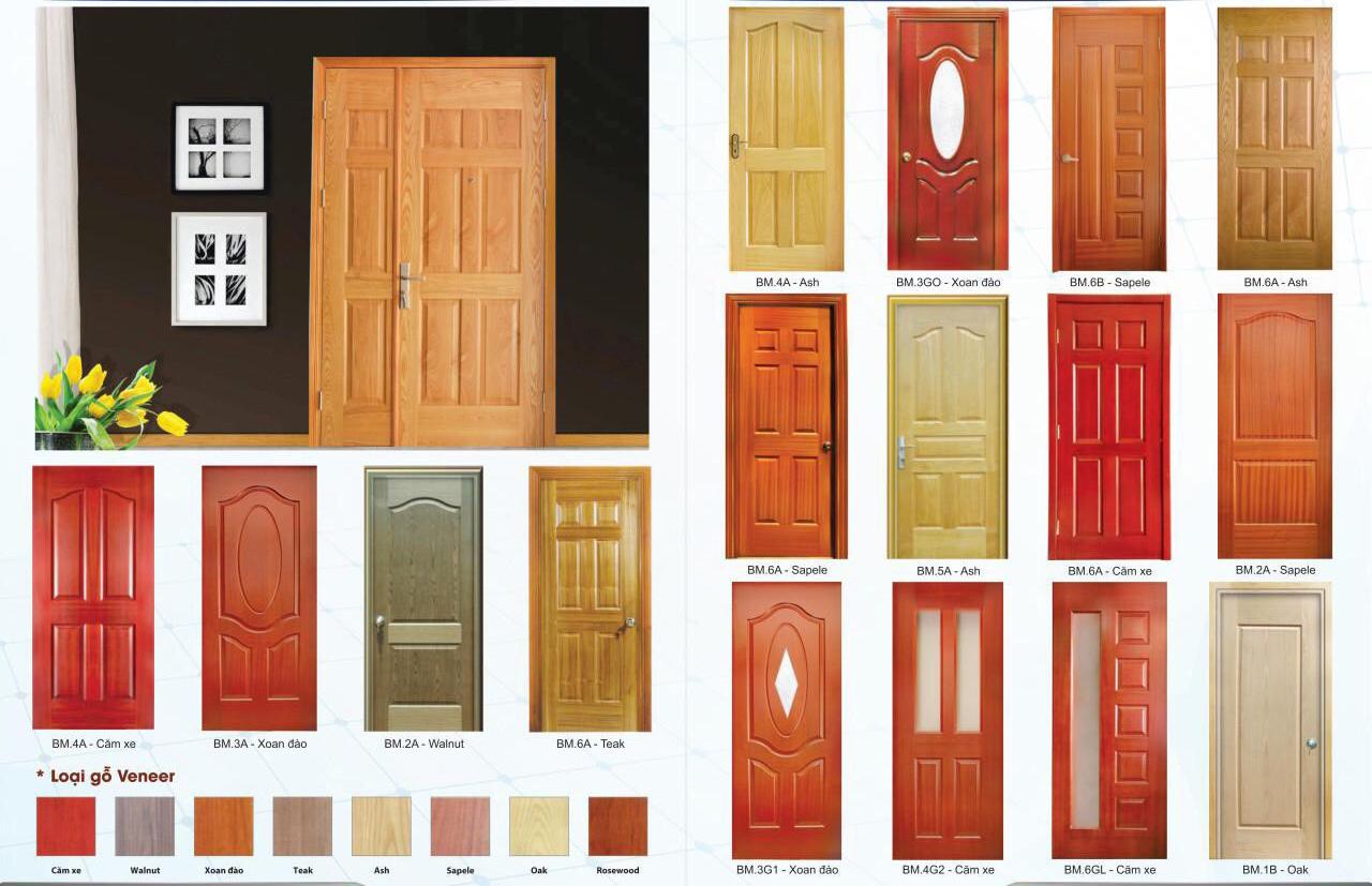 Một số mẫu cửa gỗ công nghiệp HDF veneer