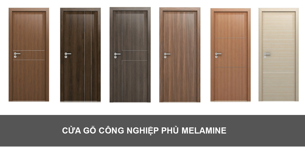 Cửa gỗ công nghiệp mdf melamine làm phòng ngủ