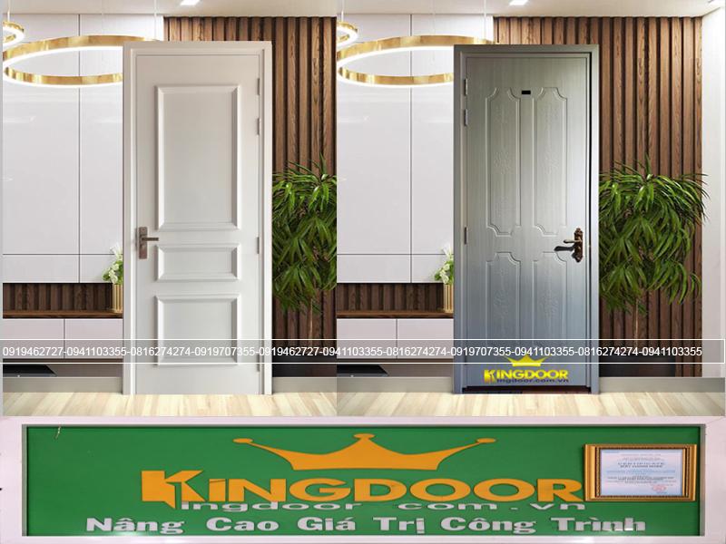 Mẫu cửa nhựa gỗ Composite tân cô điển và pano truyền thống