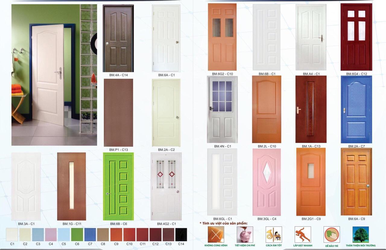 Một số mẫu cửa gỗ công nghiệp HDF Sơn