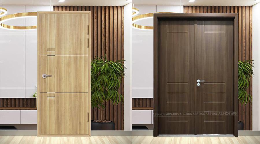 Mẫu cửa nhựa giả gỗ dành cho phòng ngủ