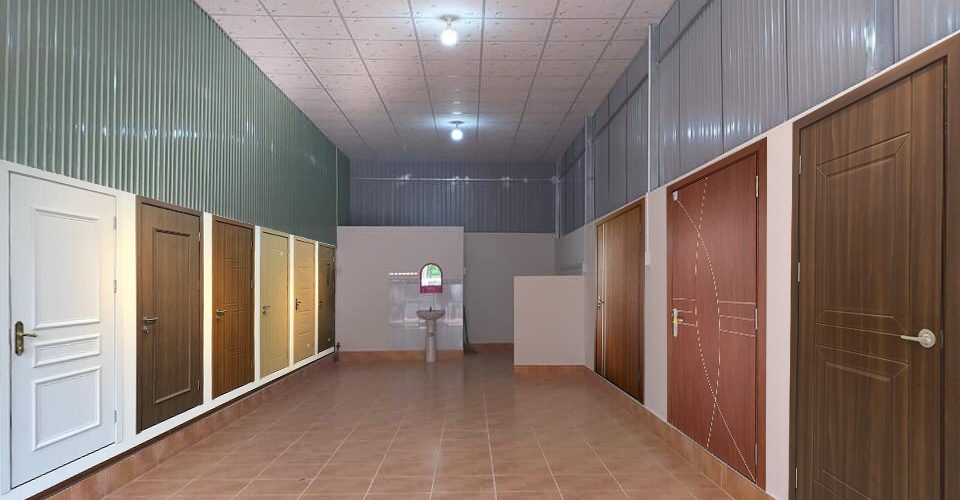 Cửa gỗ công nghiệp với nhiều Showroom trong thành phố