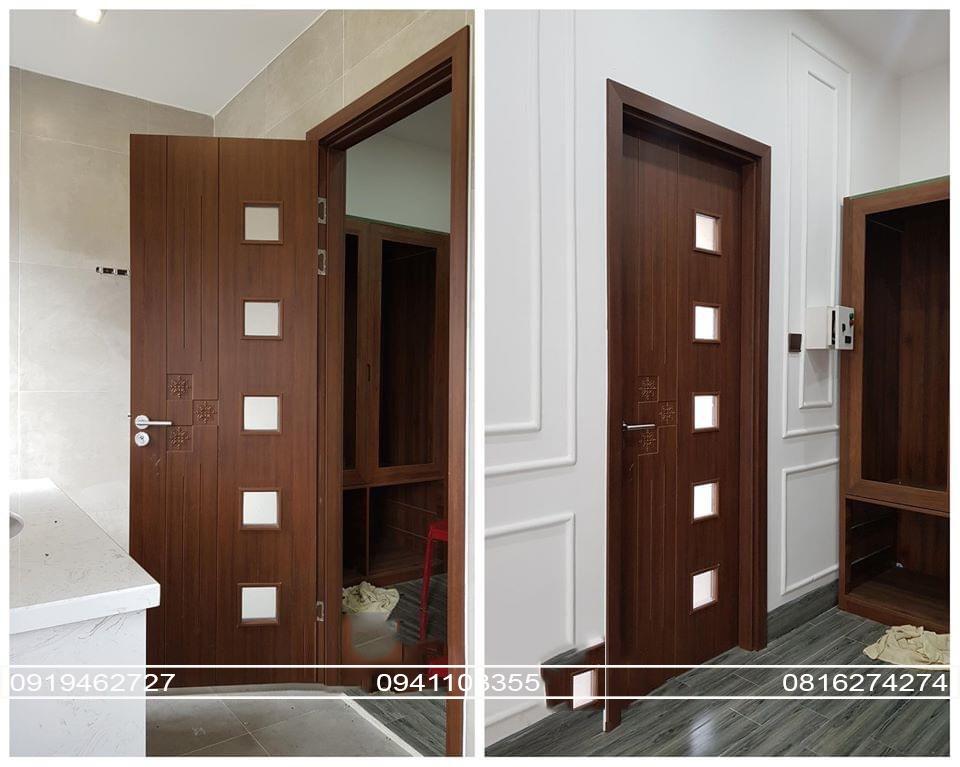 Mẫu cửa nhựa giả gỗ ABS Hàn Quốc cao cấp