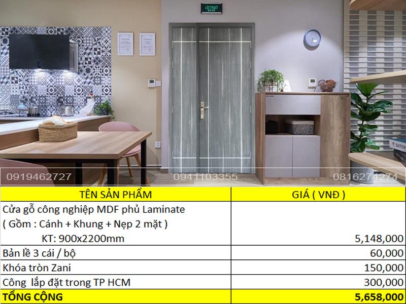 Báo giá cửa gỗ - cửa nhựa và cửa thép chống cháy