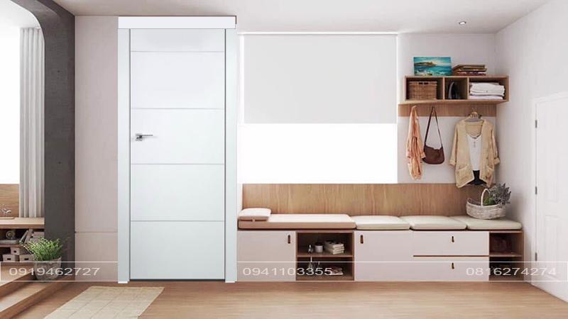 Cửa gỗ MDF sơn trắng