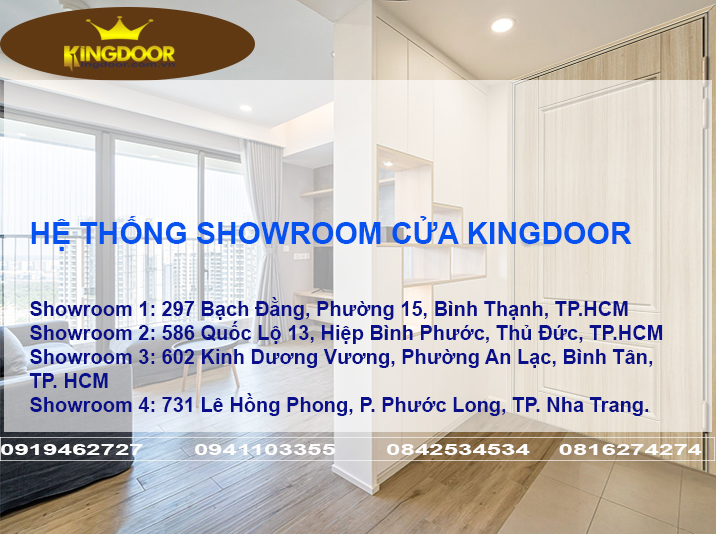 Hệ thống showroom cửa Kingdoor
