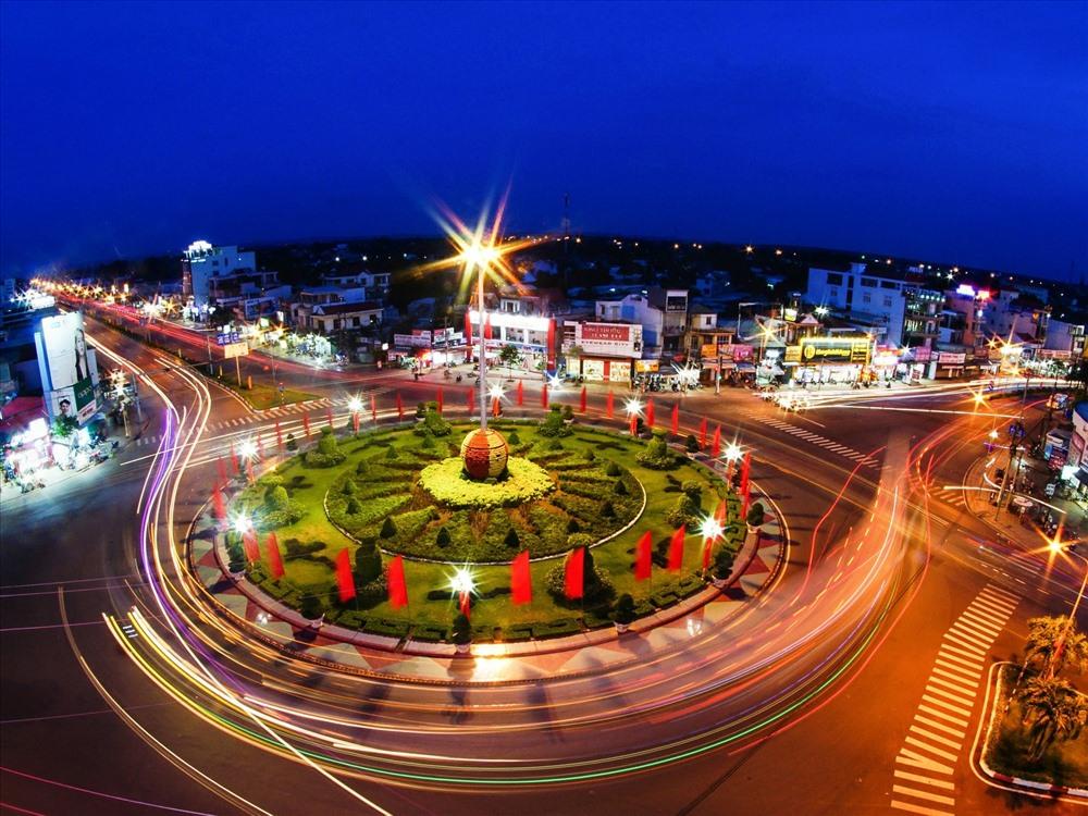 Thành phố Đồng Xoài về đêm
