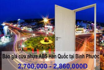 Giá cửa nhựa ABS Hàn Quốc tại Bình Phước