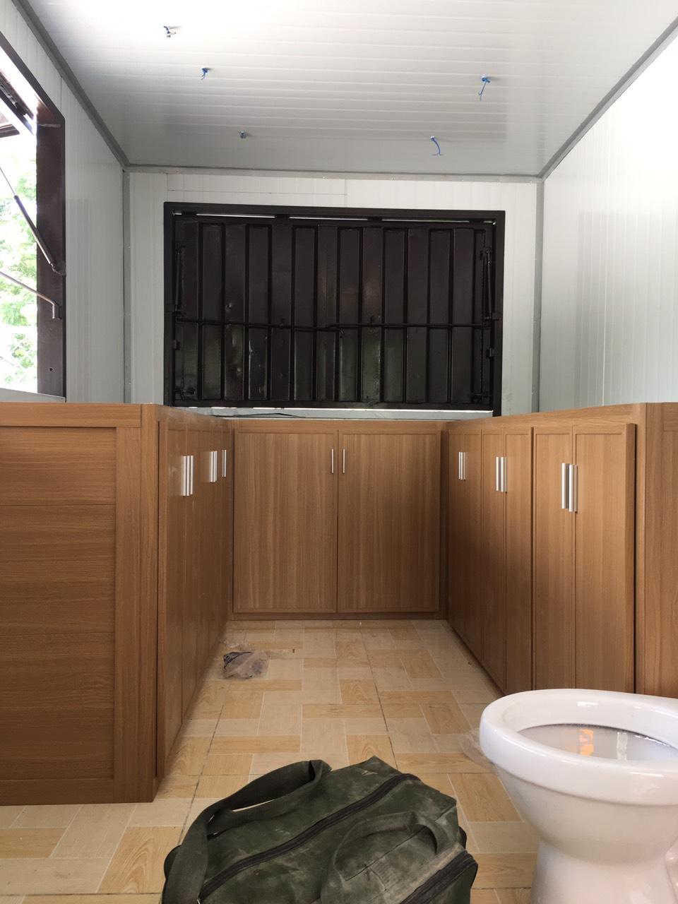 Tủ bếp nhựa giả gỗ đài loan tại quận bình thạnh