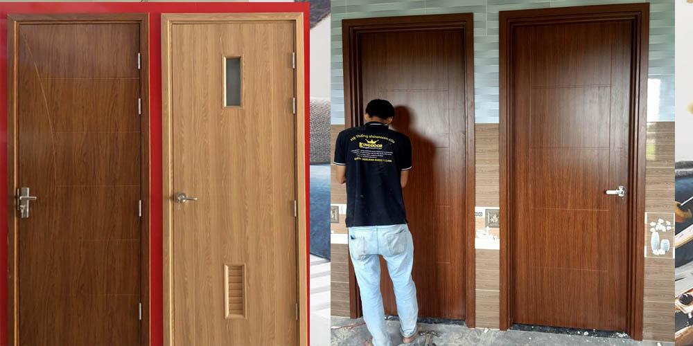 Đội ngũ lắp đặt cửa gỗ công nghiệp với tay nghề cao