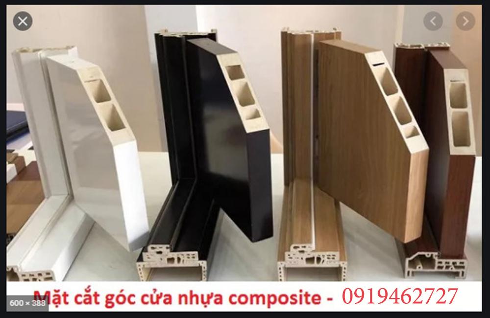 Mặt cắt cửa nhựa gỗ Composite