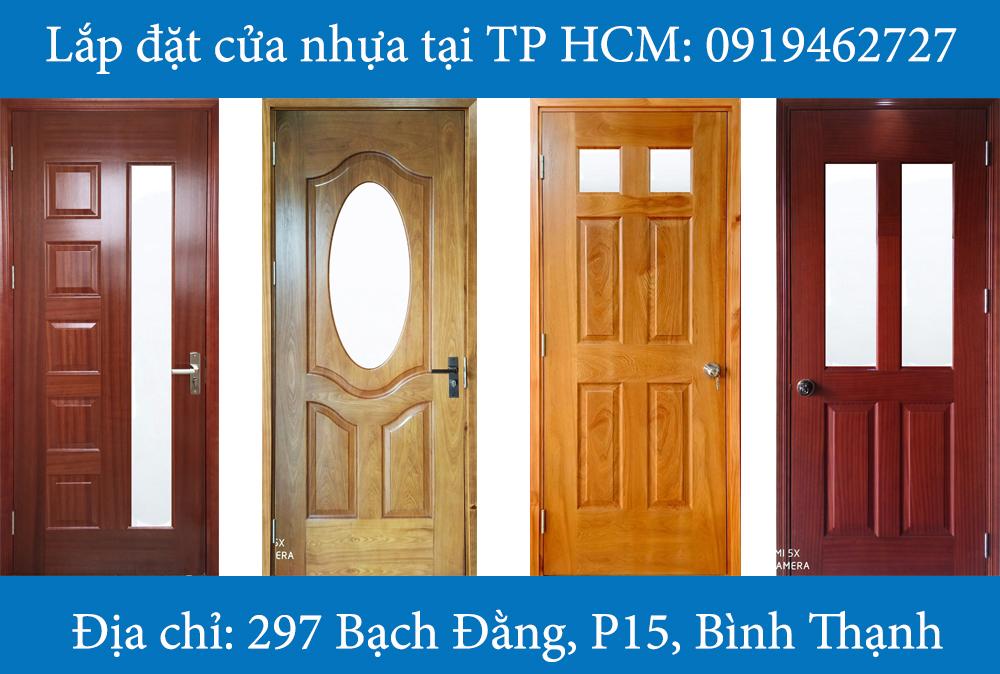 Mẫu cửa gỗ hdf veneer có ô kính
