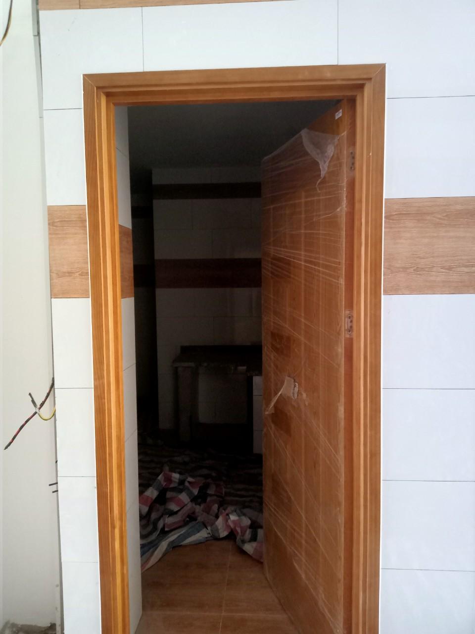 Mẫu cửa hdf veneer tại công trình